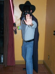 Garth Vader (Halloween in July in August party)