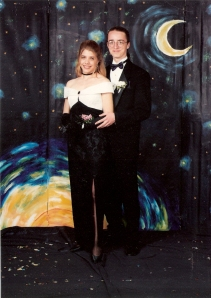 1995.  Senior prom with Darryl- WCHS I even got my hair done.