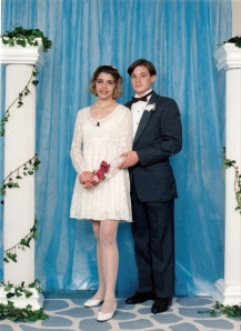 1994.  My junior prom, with Andy- WCHS I believe we played at Toys-R-Us before the dance.