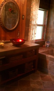 Our serene spa bathroom