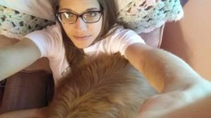 Dylan is my 55lb lap dog.