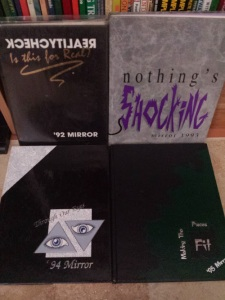 These are my high school yearbooks from WCHS