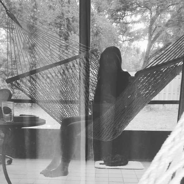 black and white hammock